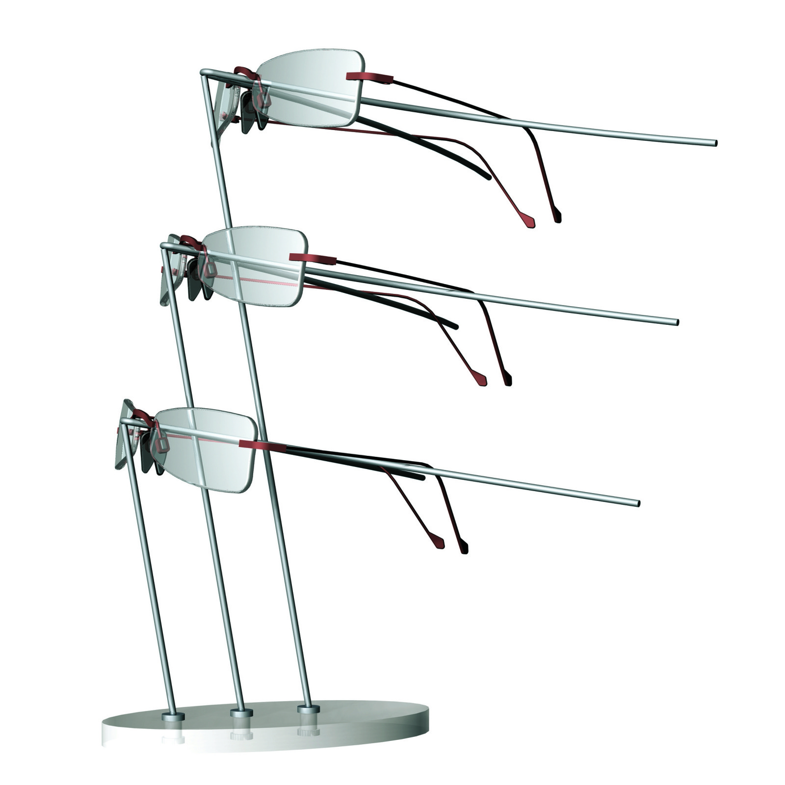 PLANE, decorative frame holder for 3 frames - Mewscraft