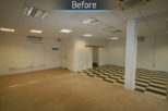 Castle Opticians before commercial interior design and refurbishment by Mewscraft