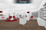 Castle Opticians 3D design for commercial interior design and refurbishment by Mewscraft