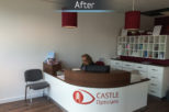 Castle Opticians after commercial interior design and refurbishment by Mewscraft