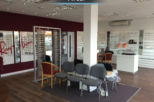 Castle Opticians retail area after commercial interior design and refurbishment by Mewscraft