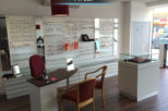 Castle Opticians frame display, commercial interior design and refurbishment by Mewscraft