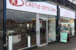 Castle Opticians shop front, commercial interior design and refurbishment by Mewscraft