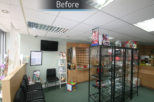Family Eyecare Opticians before commercial interior design and refurbishment by Mewscraft