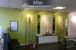 Family Eyecare Opticians after commercial interior design and refurbishment by Mewscraft