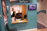 Hynes Opticians, London before commercial Interior design and refurbishment by Mewscraft