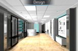 Hynes Opticians, London 3D proposal for commercial Interior design and refurbishment by Mewscraft