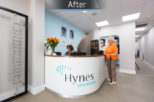 Hynes Opticians, London commercial Interior design and refurbishment by Mewscraft