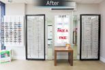 Hynes Opticians, London retail displays after commercial Interior design and refurbishment by Mewscraft