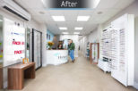 Hynes Opticians, London retail after commercial Interior design and refurbishment by Mewscraft