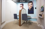 Hynes Opticians, London bespoke dispensing desks after commercial Interior design and refurbishment by Mewscraft