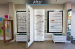 Hynes Opticians, London bespoke displays after commercial Interior design and refurbishment by Mewscraft