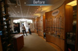 The Optical Studio Opticians before commercial interior design and refurbishment by Mewscraft