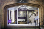 The Optical Studio Opticians shop manifestation, after commercial interior design and refurbishment by Mewscraft