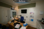 Scott Wore Hearing Centre before commercial Interior design and refurbishment by Mewscraft