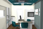 Scott Wore Hearing Centre 3D proposal for commercial Interior design and refurbishment by Mewscraft