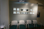 Scott Wore Hearing Centre waiting area after commercial Interior design and refurbishment by Mewscraft