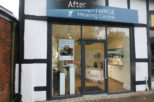 Scott Wore Hearing Centre shop front, commercial Interior design and refurbishment by Mewscraft