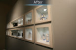 Scott Wore Hearing Centre after commercial Interior design and refurbishment by Mewscraft