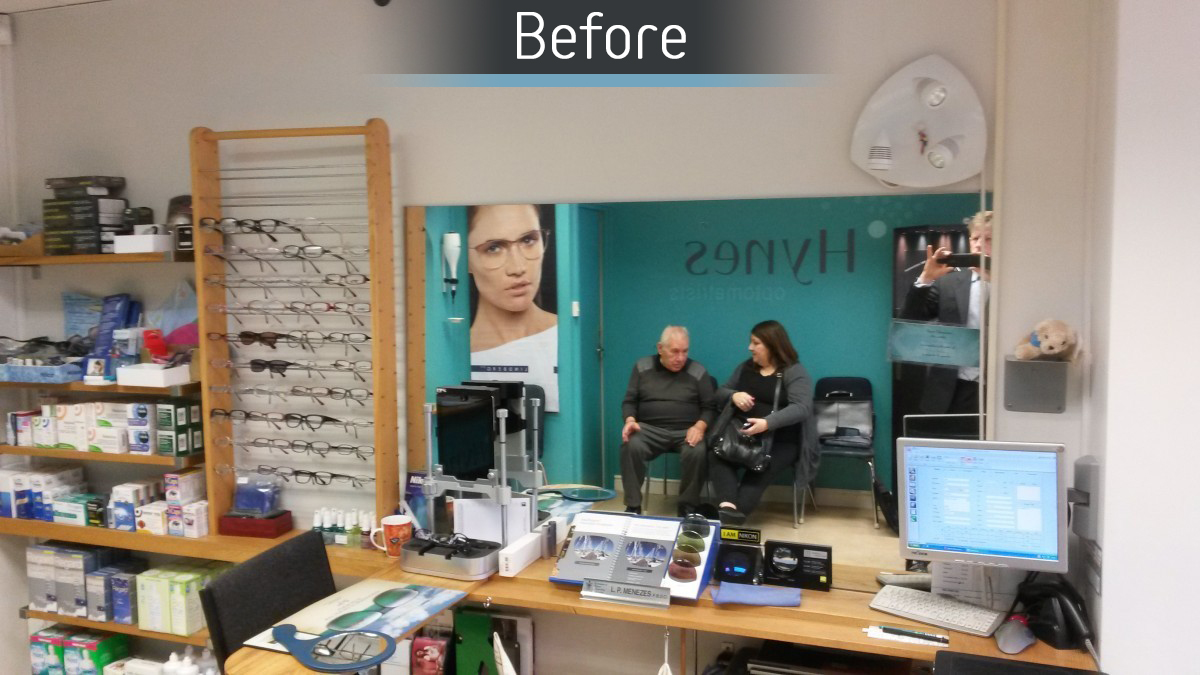 Hynes Optometrists - Before 2
