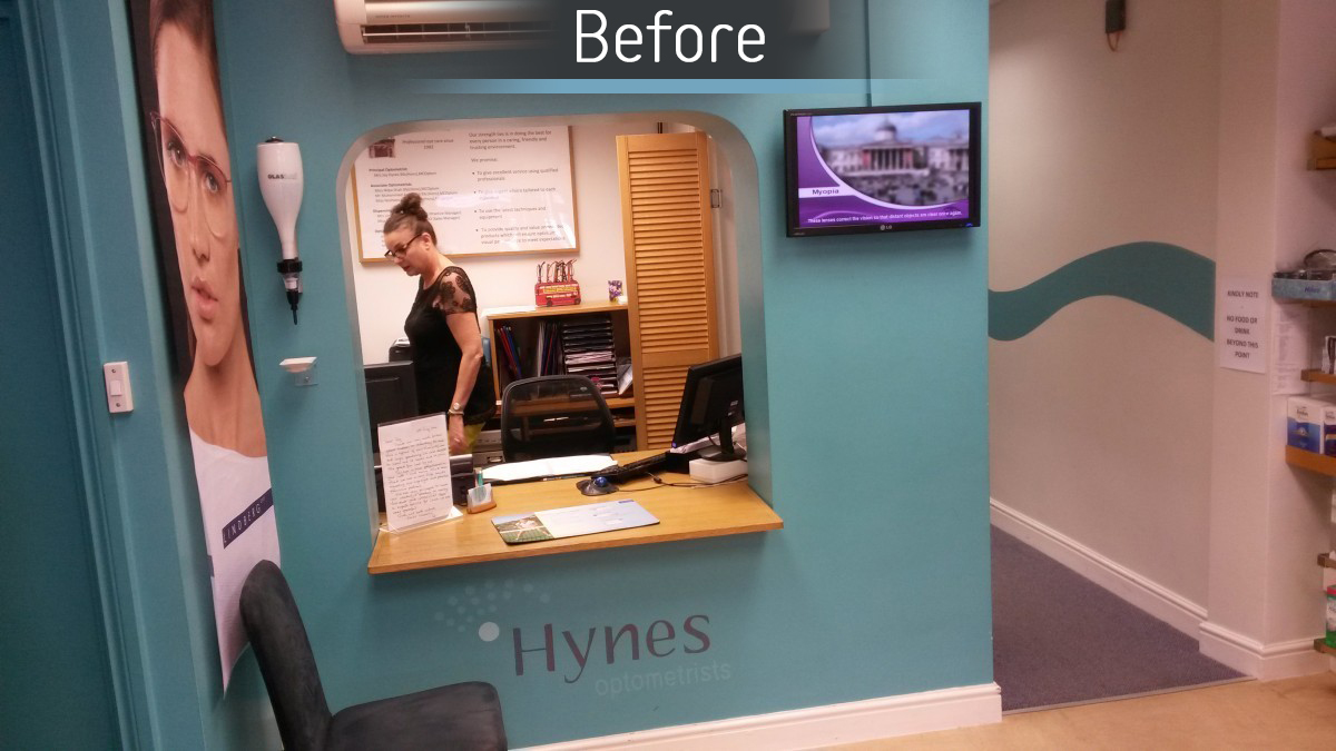 Hynes Optometrists - Before 3