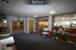 Glasgow university  before commercial Interior design and refurbishment by Mewscraft
