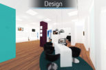 Healthy U Opticians 3D design for commercial interior design and refurbishment by Mewscraft