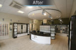 Arbuthnot Opticians after commercial interior design and refurbishment by Mewscraft