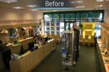 Arbuthnot Opticians before commercial interior design and refurbishment by Mewscraft