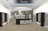 Arbuthnot Opticians 3D design for commercial interior design and refurbishment by Mewscraft
