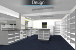 Norfolk street pharmacy 3D proposal for commercial Interior design and refurbishment by Mewscraft
