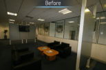 Hoya head office before commercial Interior design and refurbishment by Mewscraft