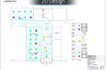 Hoya head office 2D Lighting plan for commercial Interior design and refurbishment by Mewscraft