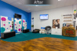 Healthy U Opticians after commercial interior design and refurbishment by Mewscraft