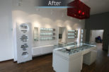 Coton & Hamblin Opticians, commercial Interior design and refurbishment by Mewscraft
