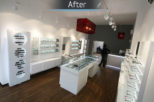 Coton & Hamblin Opticians retail, commercial Interior design and refurbishment by Mewscraft