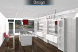 Coton & Hamblin Opticians 3D design proposal for commercial Interior design and refurbishment by Mewscraft
