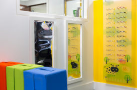 Furniture at City University Optical Clinic