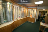 Houghton Opticians before commercial Interior design and refurbishment by Mewscraft
