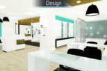 Houghton Opticians 3D Proposal for commercial Interior design and refurbishment by Mewscraft