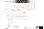Optico Opticians 2D plans for commercial Interior design and refurbishment by Mewscraft