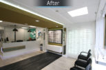 Houghton Opticians after commercial Interior design and refurbishment by Mewscraft
