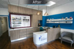 Scott Wroe Hearing Centre modern interior refurbishment by Mewscraft