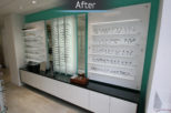 Houghton Opticians retail design after commercial Interior design and refurbishment by Mewscraft