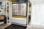 Houghton Opticians retail display, commercial Interior design and refurbishment by Mewscraft