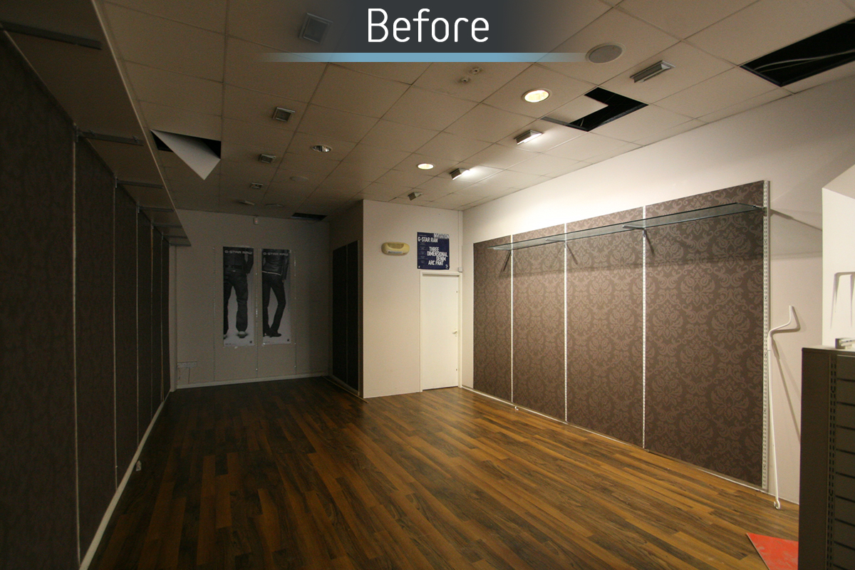 Dunstable Eye Centre before commercial Interior design and refurbishment by Mewscraft