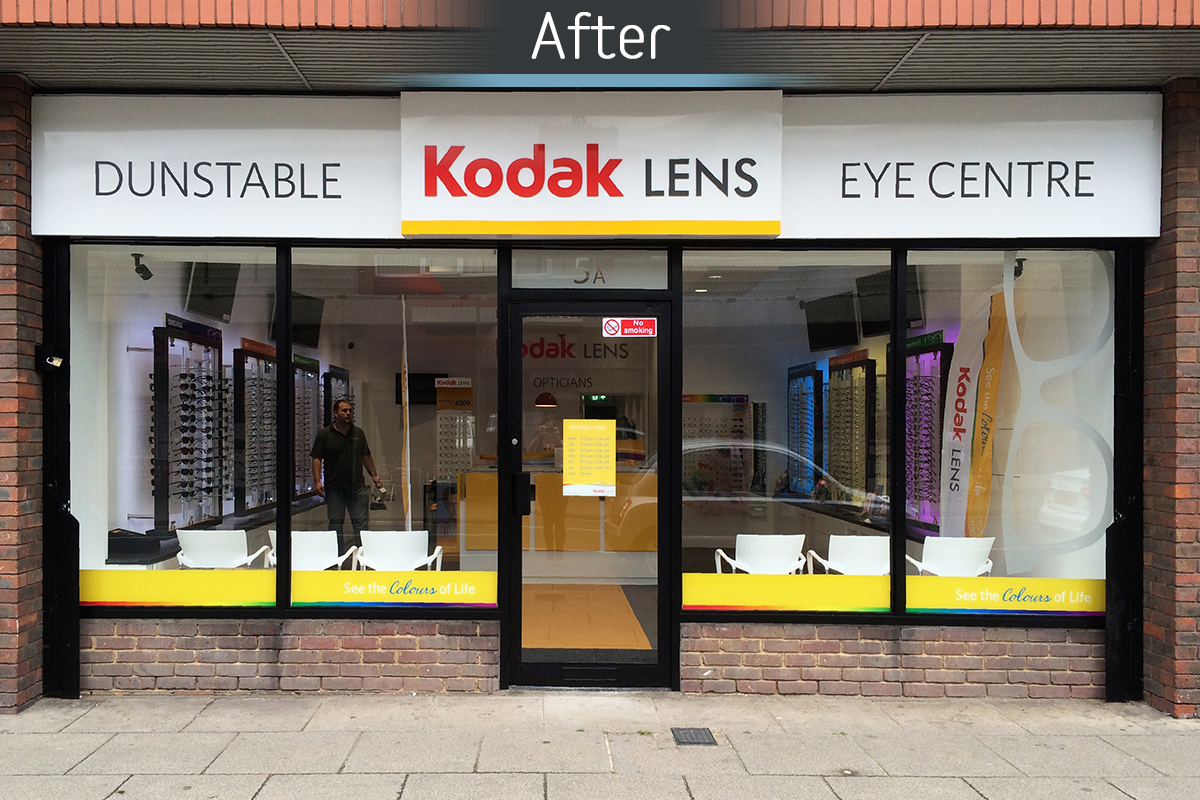 Dunstable Eye Centre after commercial Interior design and refurbishment by Mewscraft