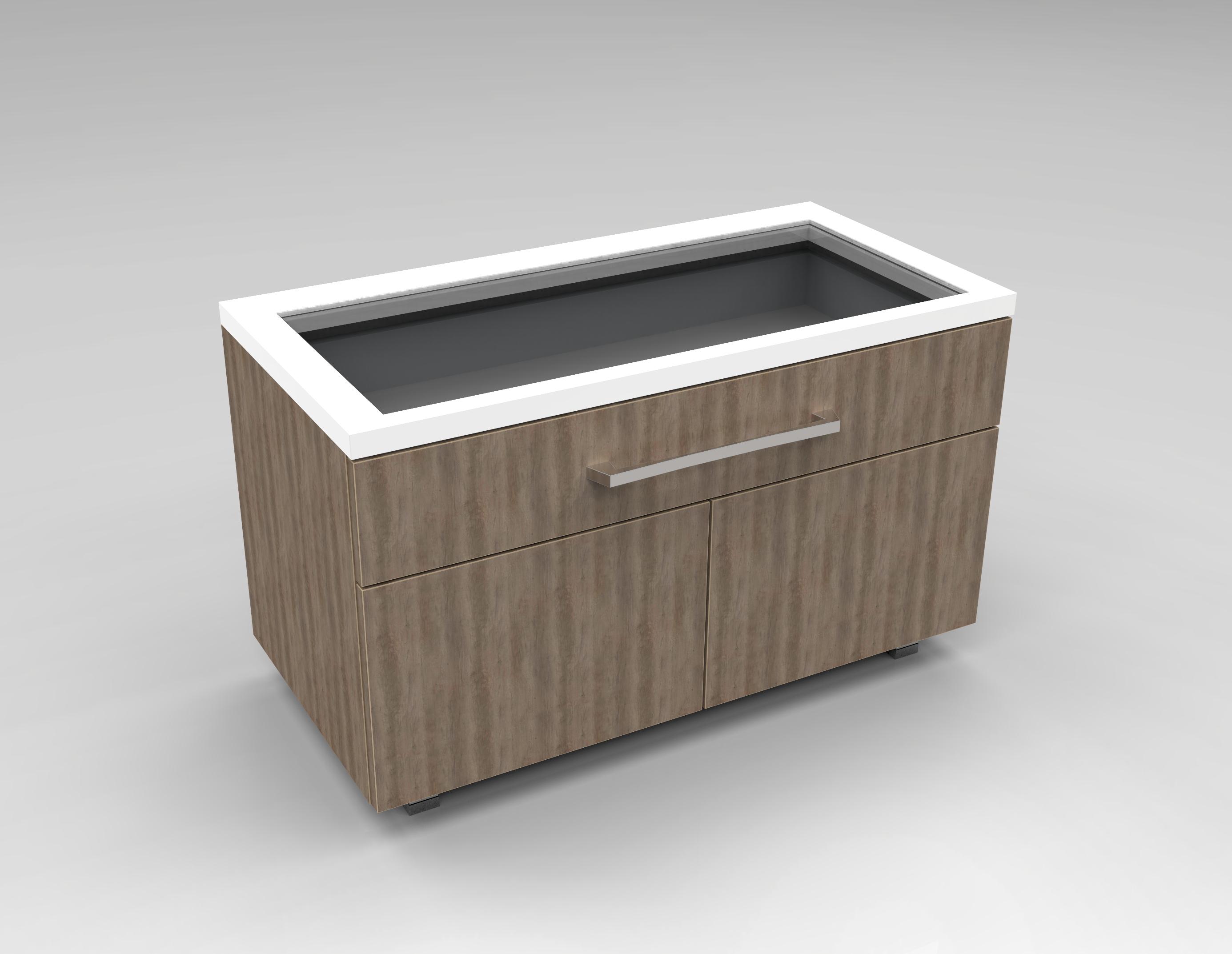 Mia Storage Unit with Glass Top