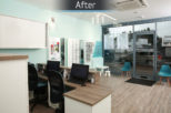 Eyewise Opticians after commercial Interior design and refurbishment by Mewscraft