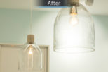 Eyewise Opticians lighting after commercial Interior design and refurbishment by Mewscraft